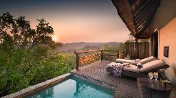 Chalet der Phinda Mountain Lodge in  Südafrika | Abendsonne Afrika