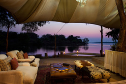Abends im Chongwe River Camp in Sambia | Abendsonne Afrika