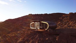 Suite im Desert Whisper von außen in Namibia | Abendsonne Afrika