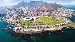 Blick auf Kapstadt in Südafrika | Abendsonne Afrika