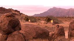 Lage des Desert Quiver Camps in Namibia   Abendsonne Afrika