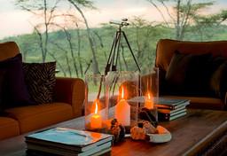 Details im Kicheche Camp in Kenia   Abendsonne Afrika