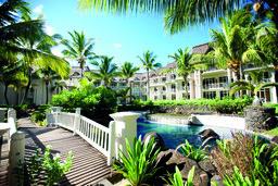 Anlage des LUX Belle Mare Resorts auf Mauritius | Abendsonne Afrika