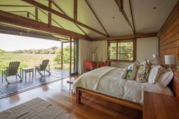Ausblick von einem Zimmer der Makakatana Bay Lodge in Südafrika | Abendsonne Afrika