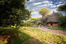 Anlage des Tarangire River Camp in Tansania | Abendsonne Afrika